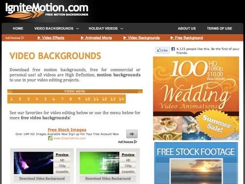 ignite motioncom - 10 FREE Video Footage Sites