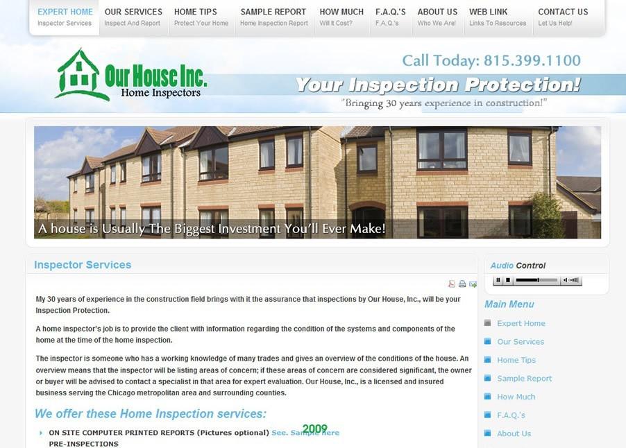 Home Inspection Agency Webdesign in Joomla 1.5 (Circa: 2008)